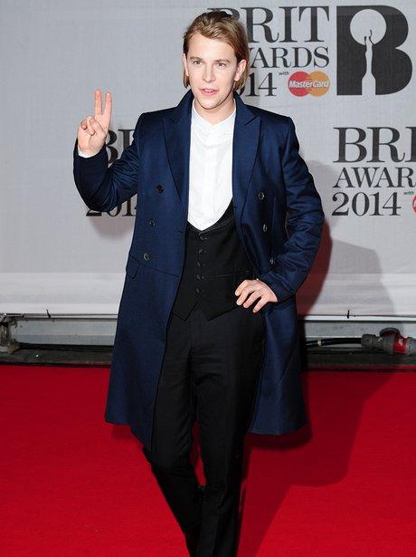 Tom Odell at the Brit Awards 2014