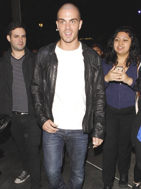 Max George at Miley Cyrus' Bangerz tour
