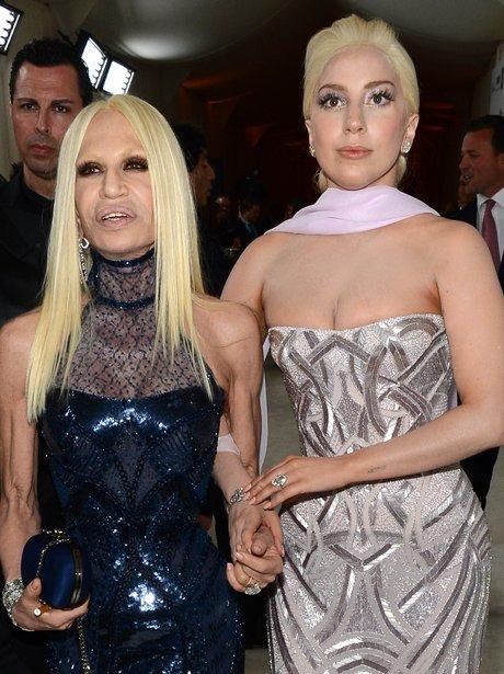 Donatella Versace and Lady Gaga