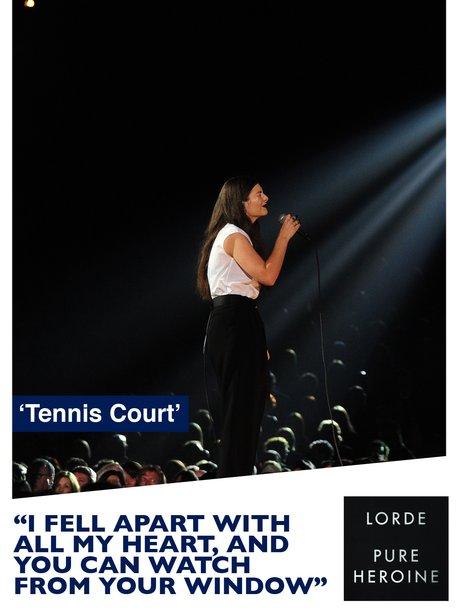 Lorde's 'Tennis Court' song lyrics