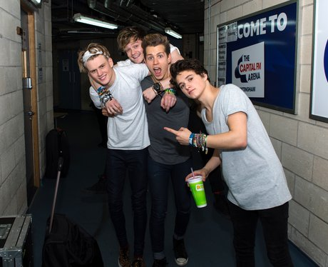 The Vamps hang out backstage after supporting The