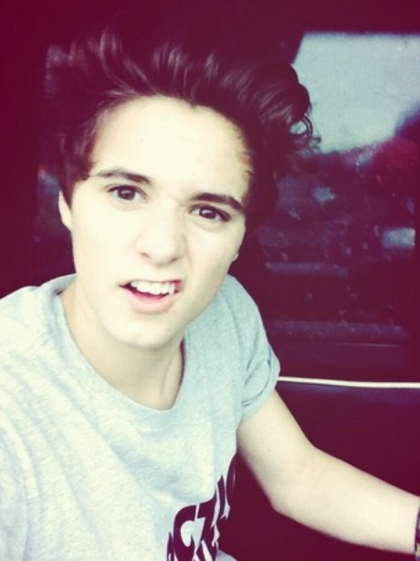 Uh-oh... think we've just discovered Brad's angry face ... The Vamps Bradley Simpson