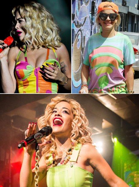Rita Ora Fashion: Neon