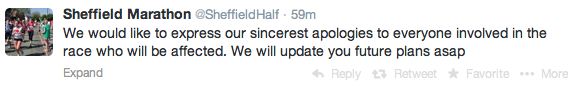 Sheffield half cancelled 1