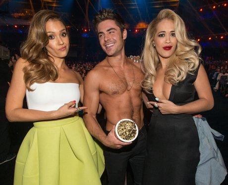 Rita Ora And Zac Efron MTV Movie Awards 2014
