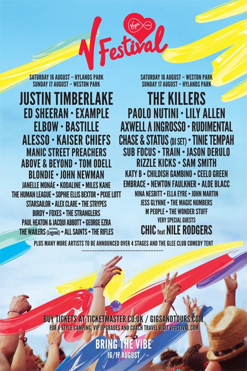 V festival line-up