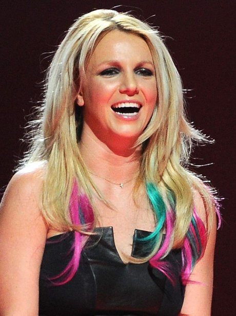 Britney Spears Multi Coloured Hair