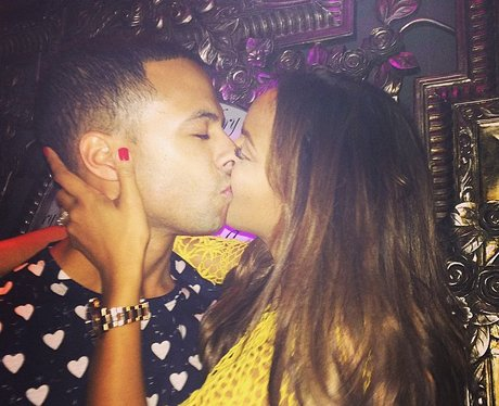 Rochelle and Marvin Humes Kiss