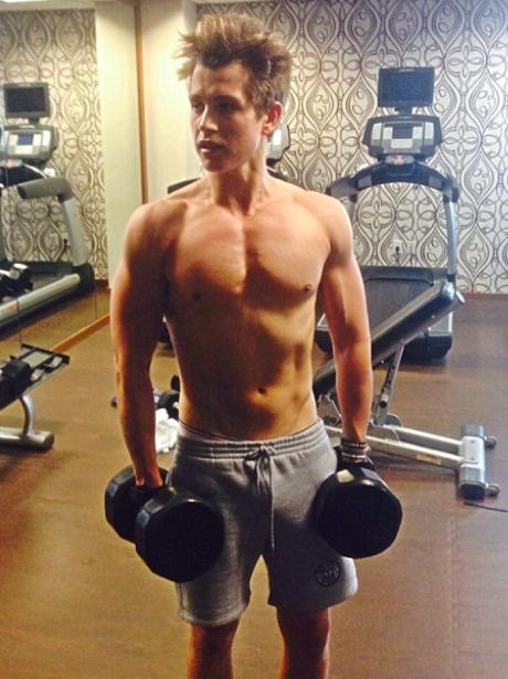 James The Vamps Topless Gym