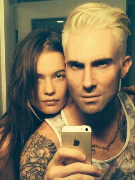 Adam Levine Blonde Hair Twitter