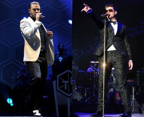 Justin Timberlake and Robin Thicke