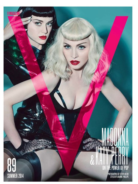 Katy Perry and Madonna V Magazine 2014