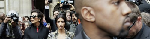 Kanye West and Kim Kardashian in Paris