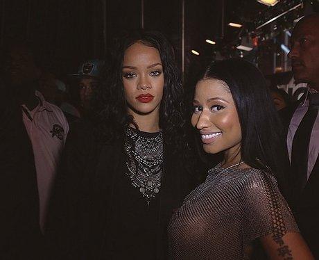 Nicki Minaj and Rihanna backstage at Summer Jam