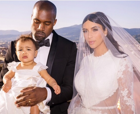 Kanye West Kim Kardashian North West Wedding