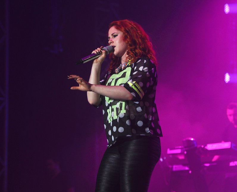 Katy B performs live at the Isle Of Wight Festival