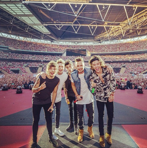 One Diretcion on the stage at Wembley