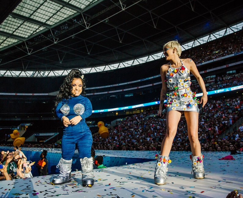 Miley Cyrus live at the Summertime Ball 2014