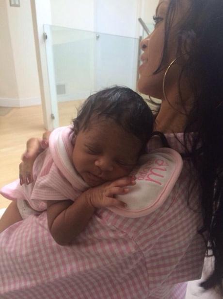 Rihanna with her niece