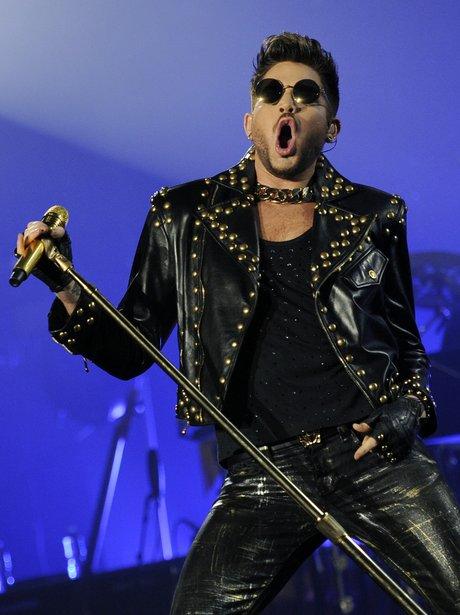 Adam Lambert performs with Queen in LA