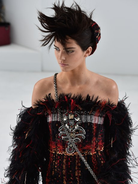Kendall Jenner makes debut on couture Chanel show.