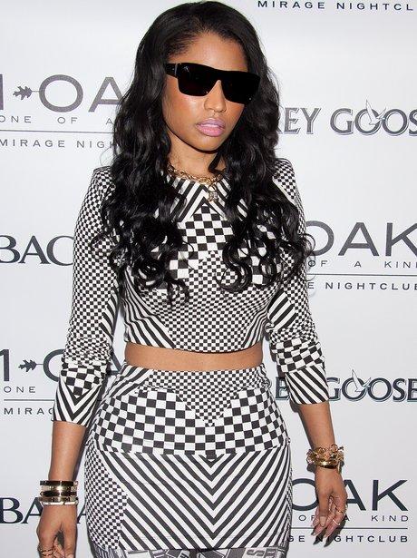 Nicki Minaj in Las Vegas wearing monochrome