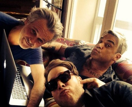 Olly Murs Robbie Williams Recording Studio Instagr