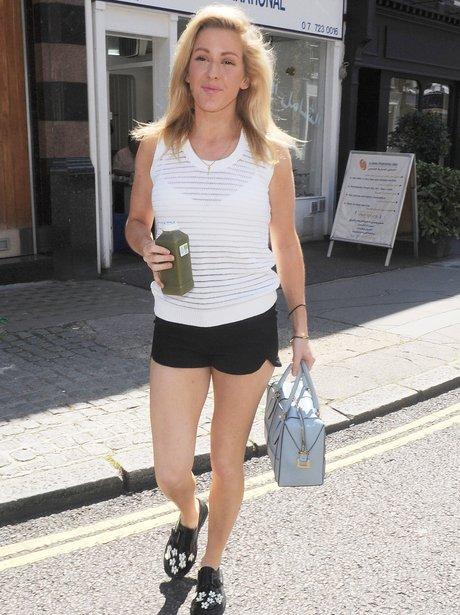Ellie Goulding wearing hotpants