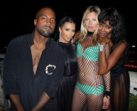 Kanye West, Kim Kardashian, Kate Moss and Naomi Ca