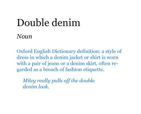 Pop Dictionary: Double Denim