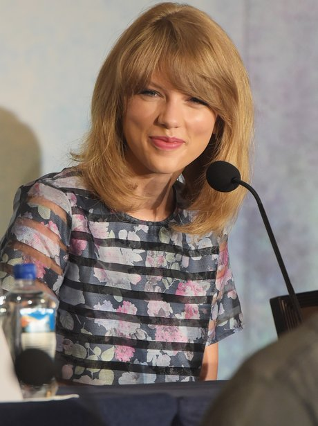 Taylor Swift at press conference