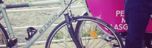 a bike, doubled