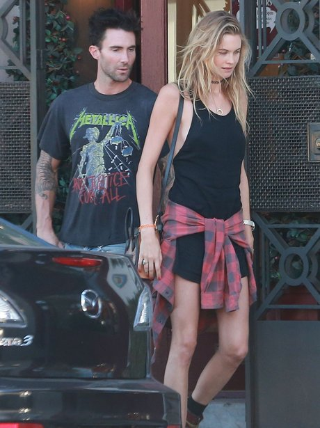 Adam Levine and Behati Prinsloo out shopping
