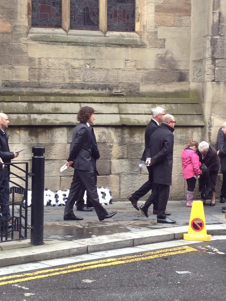 alan pardew leaves liam sweeney's funeral