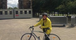 Capital's Jennie Cook with her bike