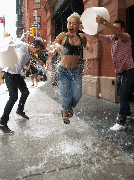 Rita Ora Ice Bucket Challenge