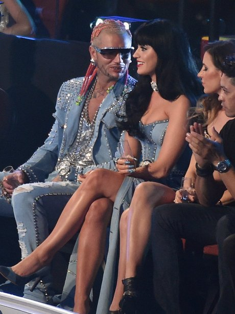 Katy Perry Watching the MTV VMA 2014 show