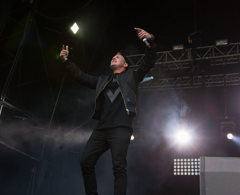 Dizzee Rascal on Stage at Fusion Festival