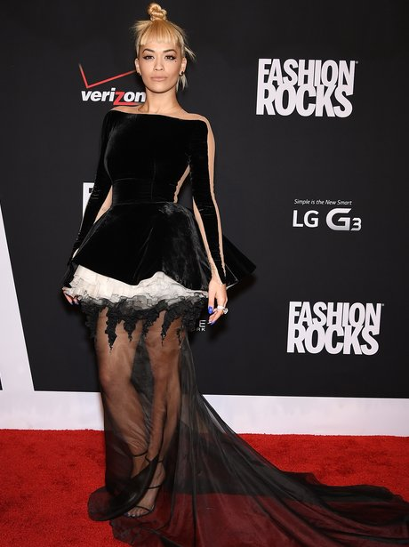 Rita Ora Fashion Rocks 2014