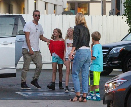 Chris Martin and Gwyneth Paltrow with Kids