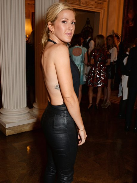 Ellie Goulding wearing a backless top