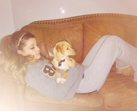 Ariana Grande and Dog