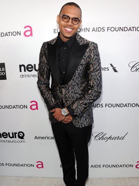 Chris Brown Leopard Print Suit