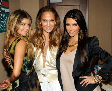 Fergie, Jennifer Lopez and Kim Kardashian