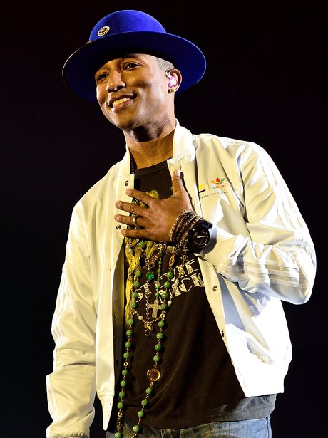 Pharrell performs at the 02