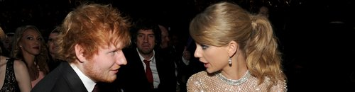 Ed Sheeran and Taylor Swift Grammys 2014