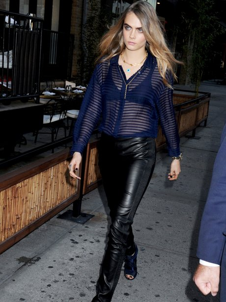 Cara Delevingnr SeeThrough Top