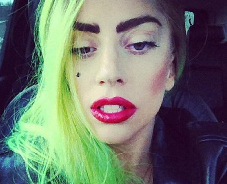 Lady Gaga Green Hair