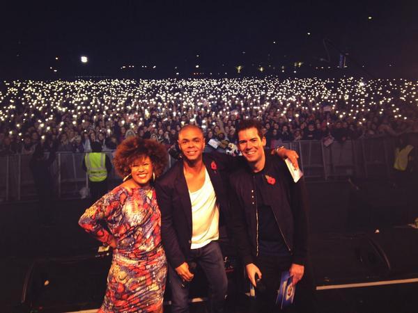 Adam Danny and Jojo live on stage