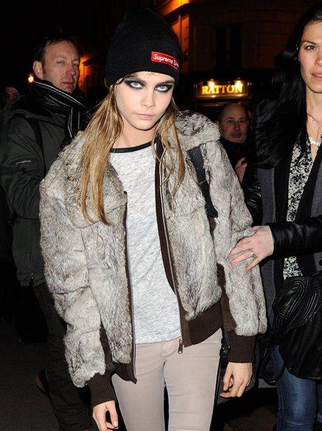 Cara Delevingne Fur Coat